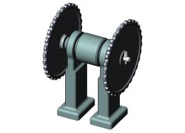 A simple gear drive assembly